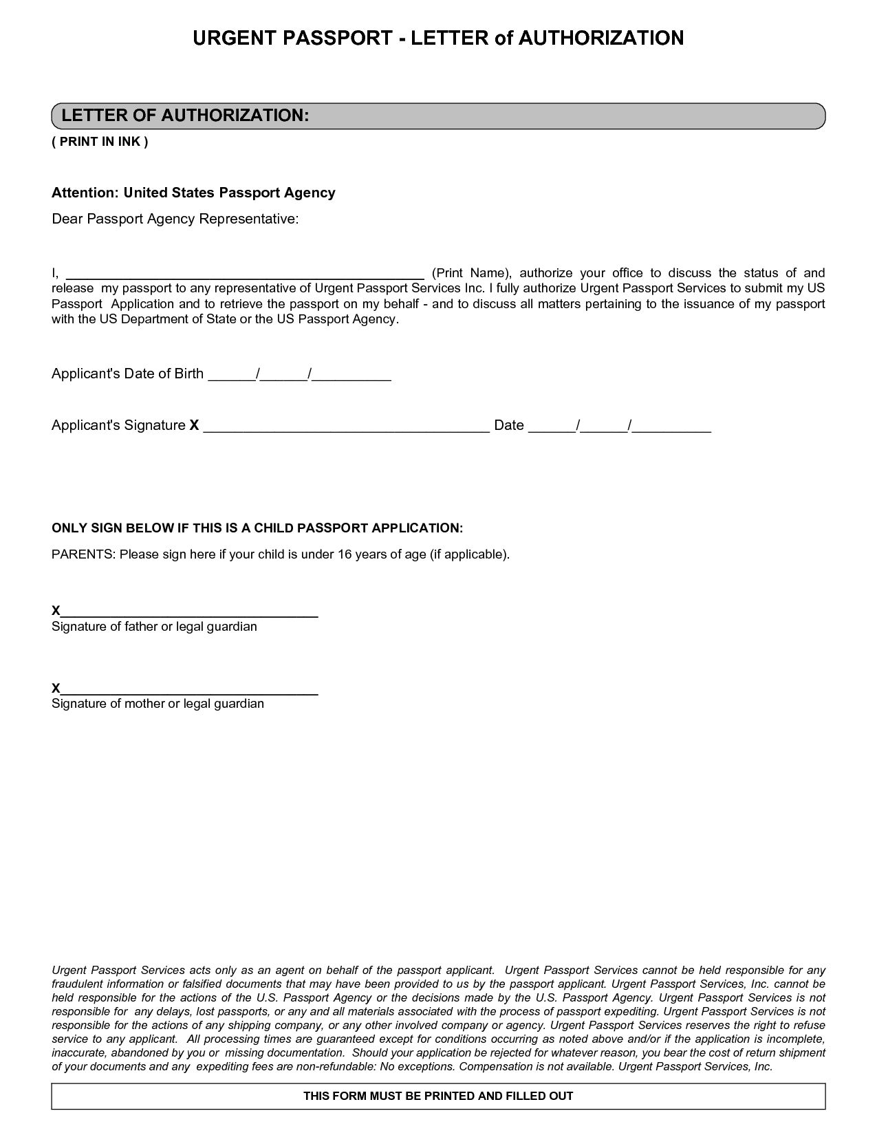 Letter Notarized Parental Authorization Sample Receive Passport For Notarized Letter Template For Child Travel 10 P Lettering Letter Templates Letter Sample