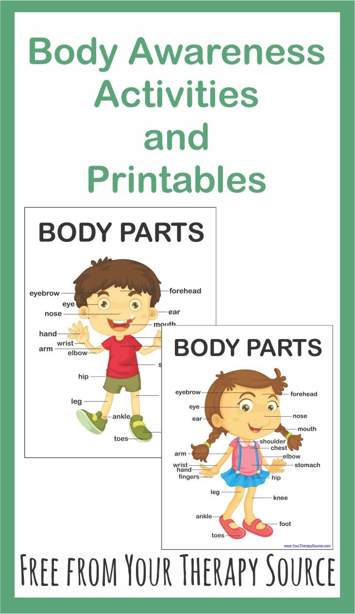 6 Body Awareness Activities And Printables Free Your Therapy Source Body Awareness Activities Body Awareness Proprioceptive Activities [ 1264 x 731 Pixel ]