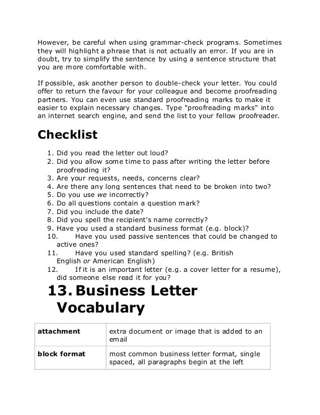 Business Letter Opening Phrases Letters English Formal Signature