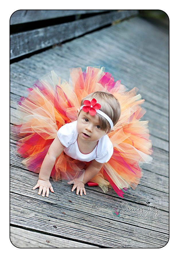 Girl Tutu Sweet Fall Design Custom Newborn Baby by HannahsTutus Love the colors