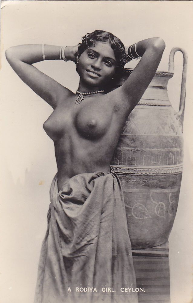 Rp Topless Rodiya Girl , Ceylon , 00-10S  Indigenous -4191