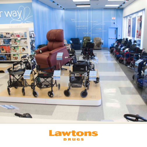 Walkers, scooters, lift recliner chairs, and more! Lawtons