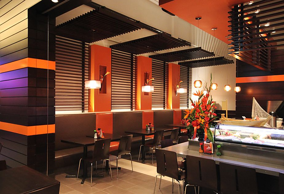 Oranj Sushi Edmonton Alberta Interior Designs Pinterest