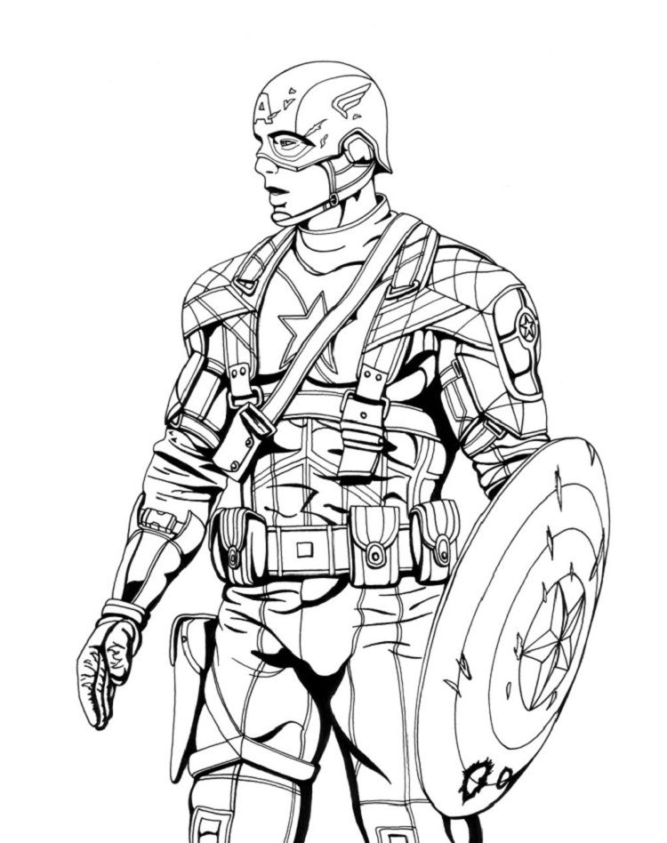 captain america coloring pages invinity war captain