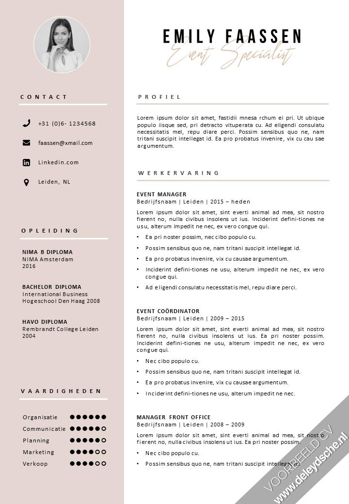 Download Modern Cv Template Cv Sjabloon Cv Design Cv Format Ms Office Sollicitatiebrief In 2021