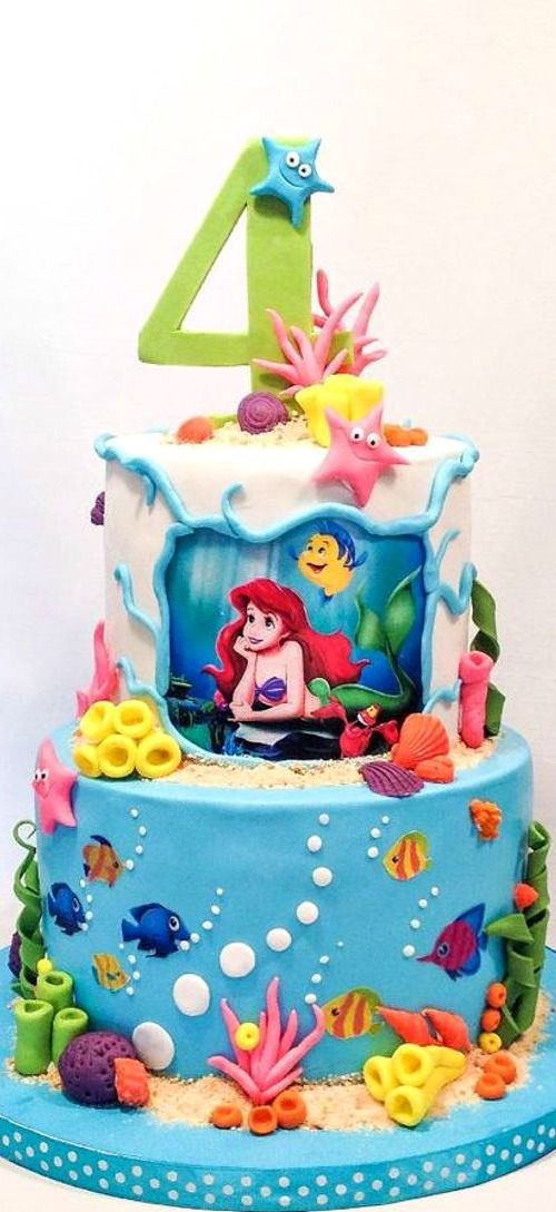 Little Mermaid Cake recipes Pinterest Mermaid cakes