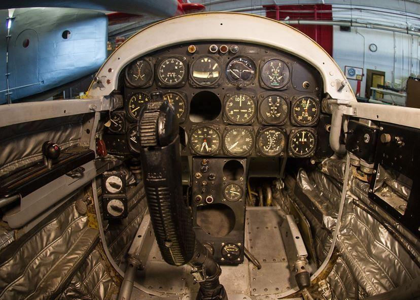 DAYTON, Ohio Northrop X4 cockpit at the National Museum