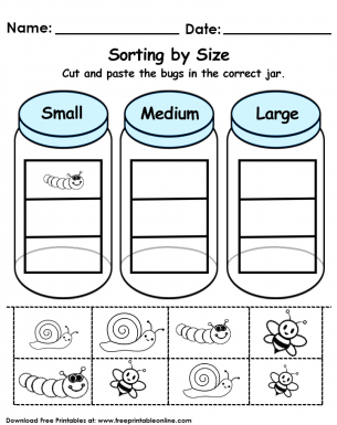 sorting by size worksheet free printable worksheets kindergarten math worksheets sorting. Black Bedroom Furniture Sets. Home Design Ideas