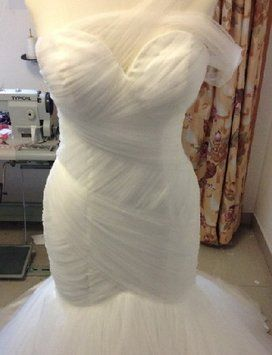Mark Zunino Assymetrical Replica Wedding Dress $550