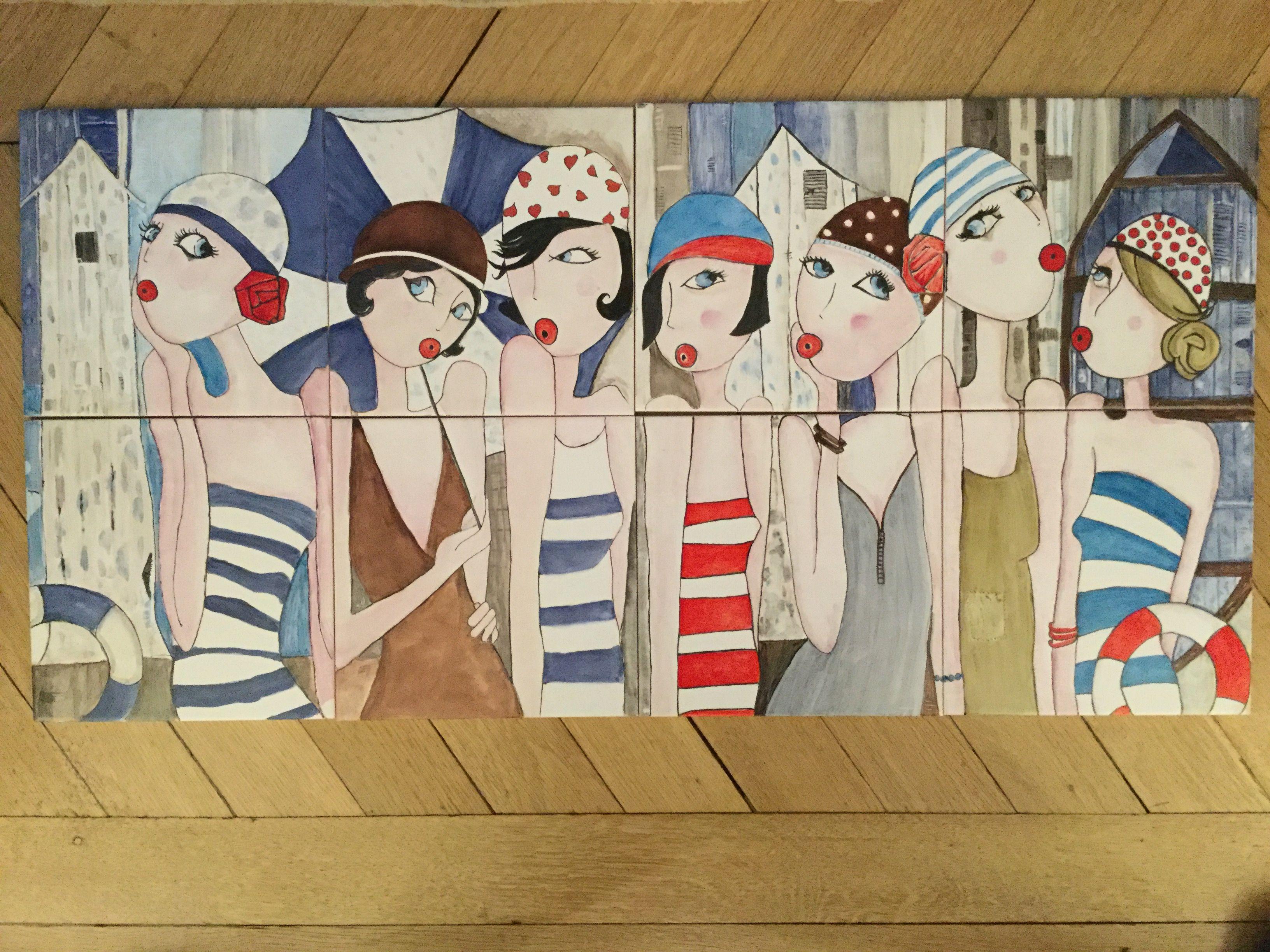 D après peinture Virginie Matz:C.Molle   Porcelaine mes realisations ...