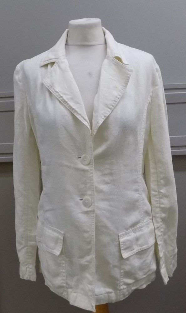 1742f485db H M Ladies White Linen Shirt Size 10 UK in Clothes