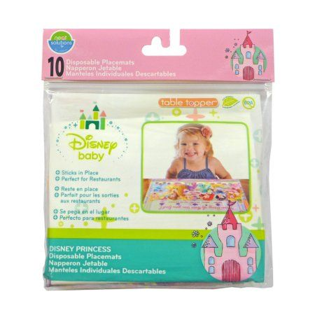 Disney Princess 10 ct Pack of 2 NEW Neat Solutions Eco Table Topper