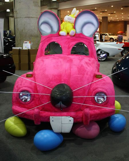 How About A Pink Car For Easter Sunday?