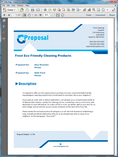 Basic Product Sales Sample Proposal | Sample Product Sales