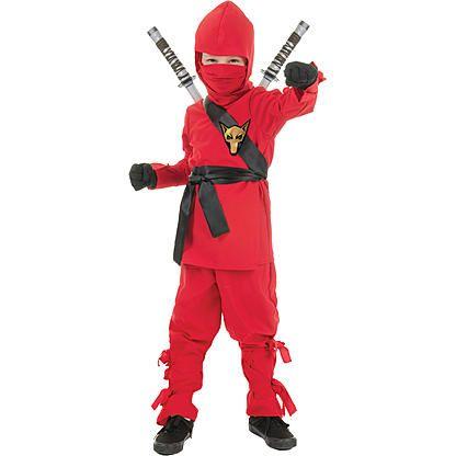 Boys Ninja Red Halloween Costume, Kmart