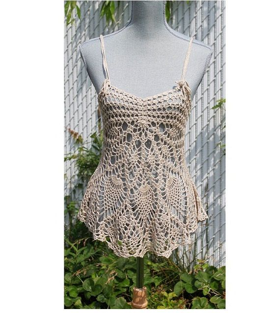 Lace Tank Top / Cover up Made to Order in any size and color ...