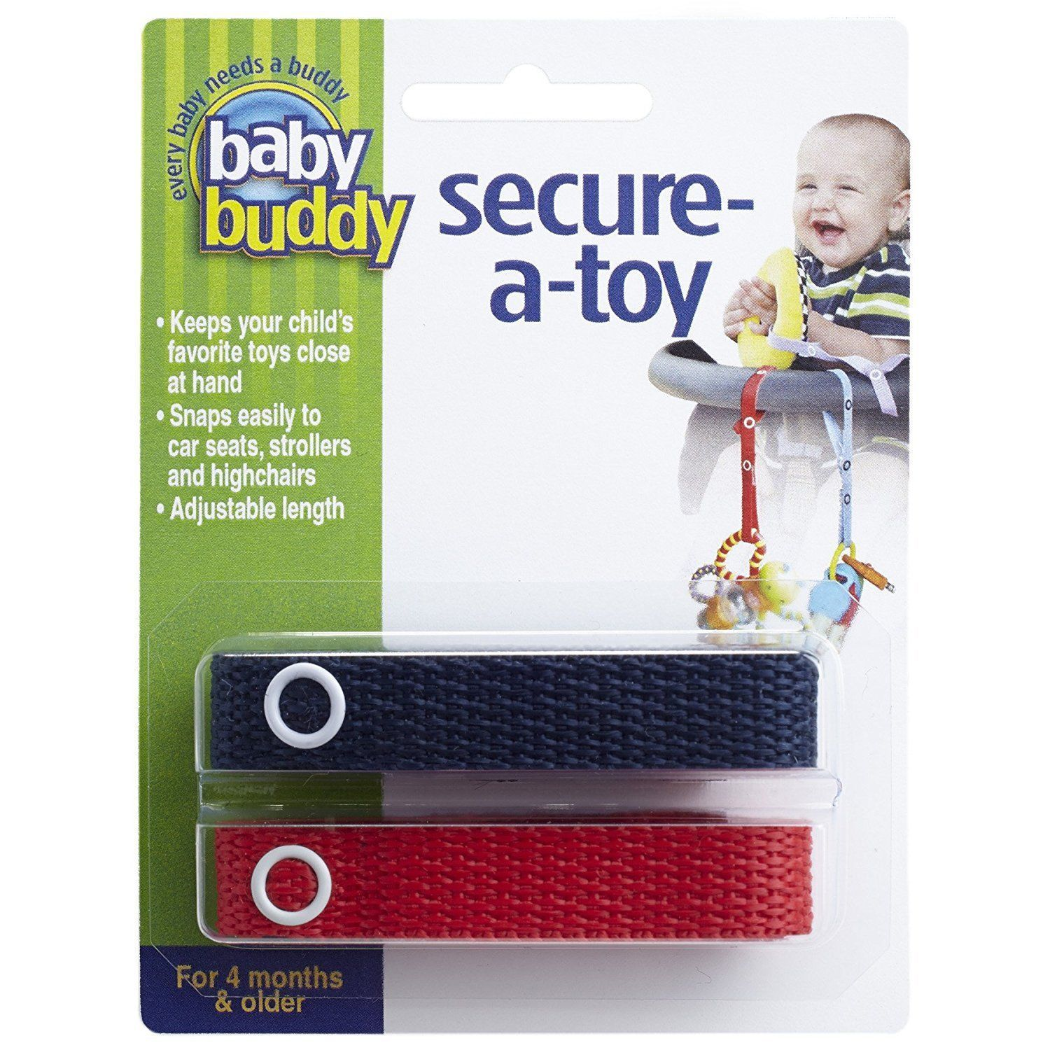 nice Baby Buddy Secure-A-Toy, Navy/Red   Check more at http://harmonisproduction.com/baby-buddy-secure-a-toy-navyred/