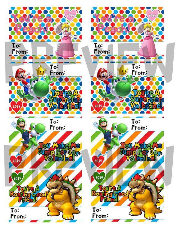 Orange You Crafty Super Mario Valentines free printable – Super Mario Bros Valentine Cards