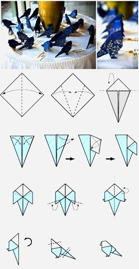 Make An Origami Bird With Your Own Hands Diy Pinterest