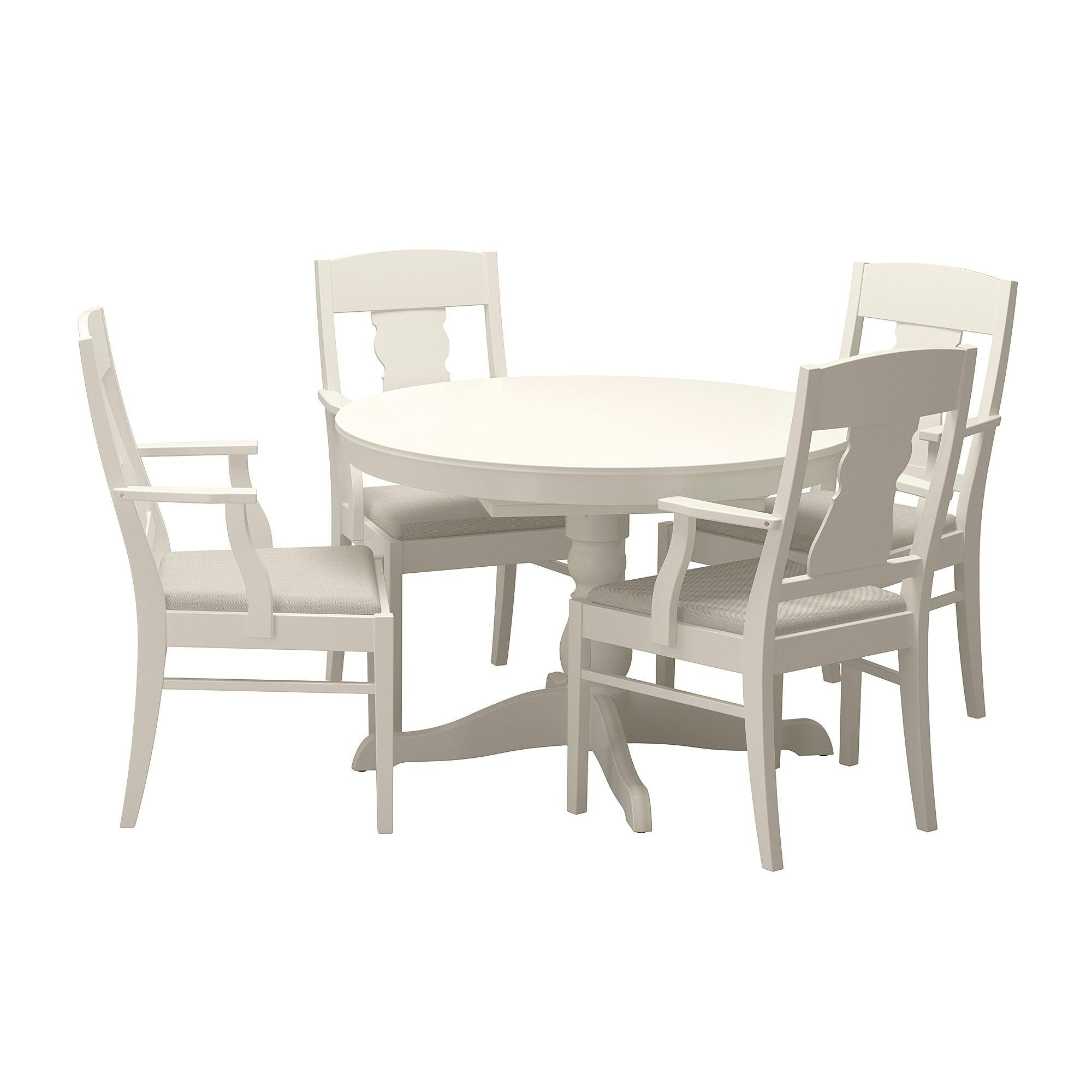 Ingatorp Tisch Und 4 Stuhle Weiss Esszimmer Mobel