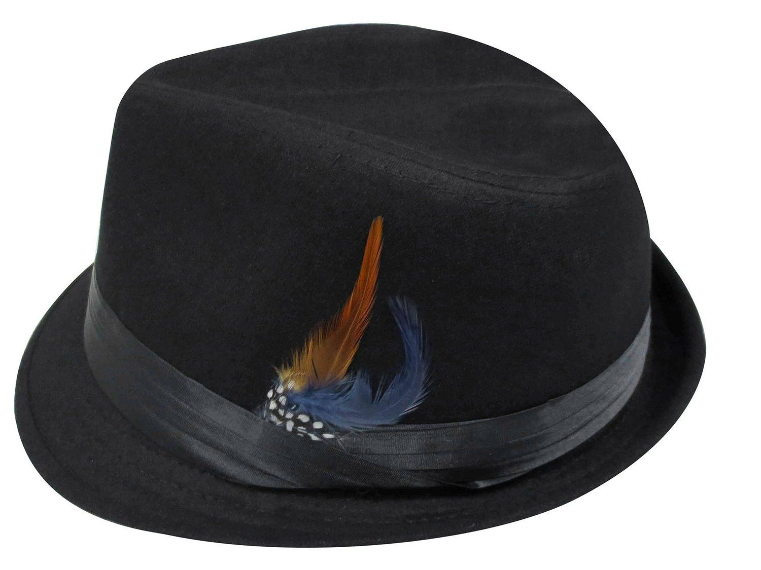 328c35722 about $12 Amazon. Simplicity® Fashion Adult Feather Trilby Wool ...
