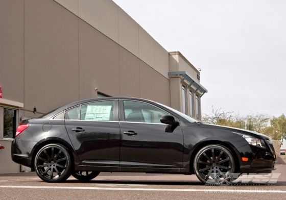 2013 Chevrolet Cruze With 19 Tsw Brooklands In Matte Black Wheels