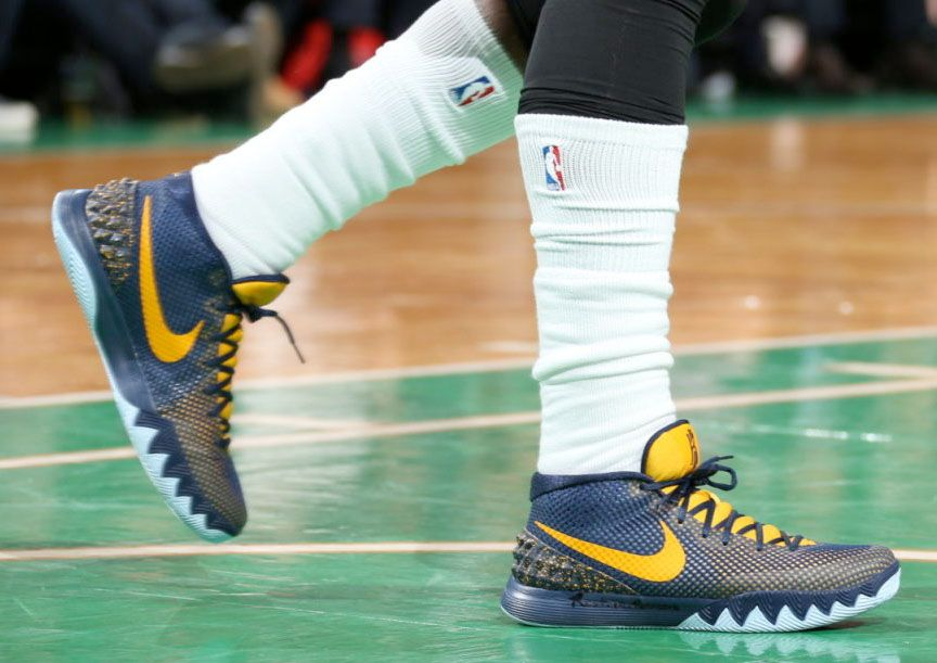 best cheap 18f48 b75a9  SoleWatch  Kyrie Irving Wears  Cavs Navy  Nike Kyrie 1 PE in Game 3