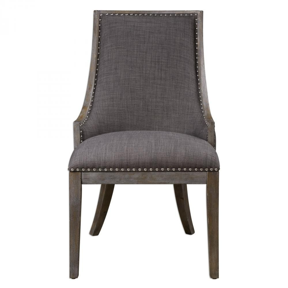 Best Shop Now Uttermost Aidrian Charcoal Gray Accent Chair 400 x 300