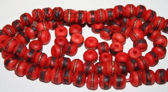 10 8mm Loose Beads Bone