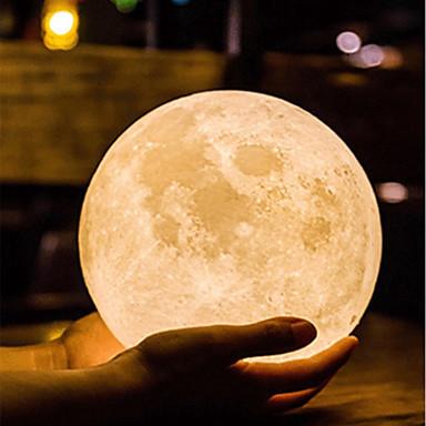 Moon Lamp Led Night Light 3d Globe Brightness Batteries Powered Home Decorative For Baby Kid New Year Christmas Gift Wooden Stand 10cm 10cm 2020 Us 12 39 Night Light Led Night Light