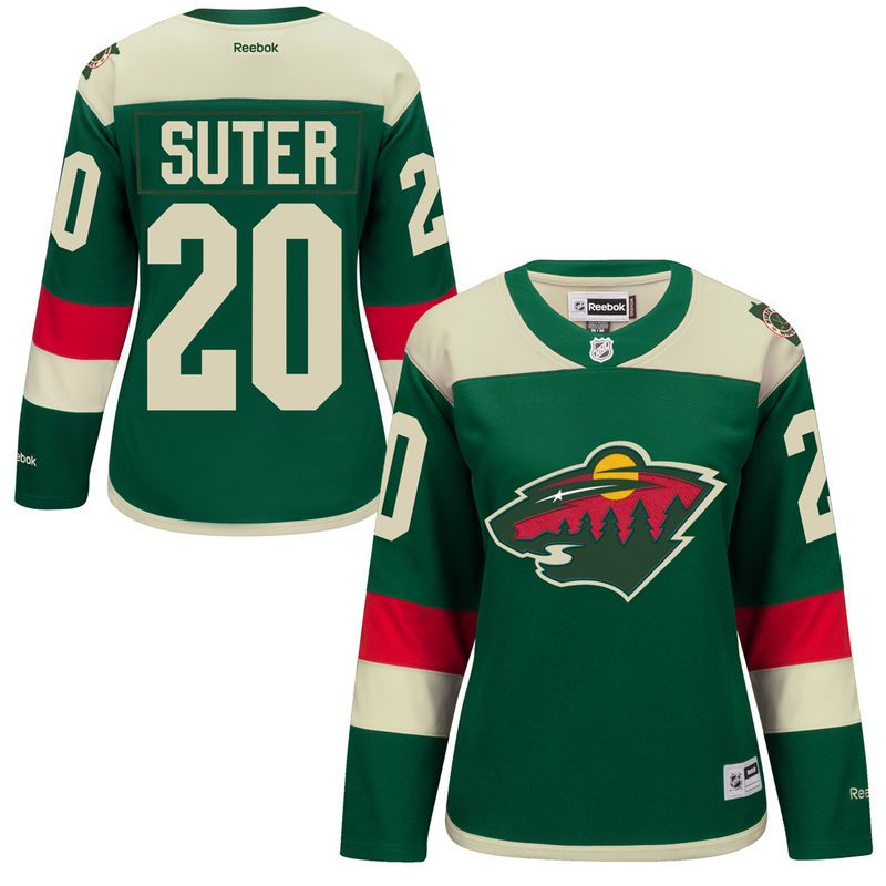 brand new 23653 69948 Ryan Suter Minnesota Wild Reebok Women's 2016 Stadium Series ...