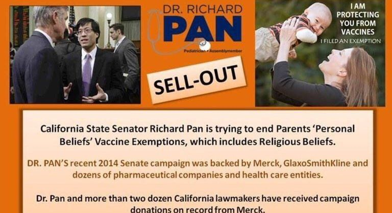 Petition · We call on California State Senator, Dr. Richard Pan to resign from his position due to his vested interests in profiting from Merck, GlaxoSmithKline and literally dozens of pharmaceutical companies, and the conflict of interest this causes. · Change.org