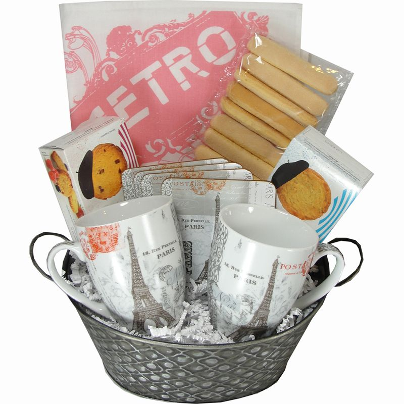 Medium I Love Paris Themed Gift Basket | Gift baskets | Pinterest ...
