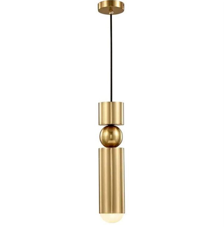 נורדי פליז תליון מנורה מודרני מטבח מנורת חדר אוכל בר דלפק חנות צינור תליון למטה צינור Led אורות משרד Small Pendant Lights Diy Pendant Light Pendant Light Cord