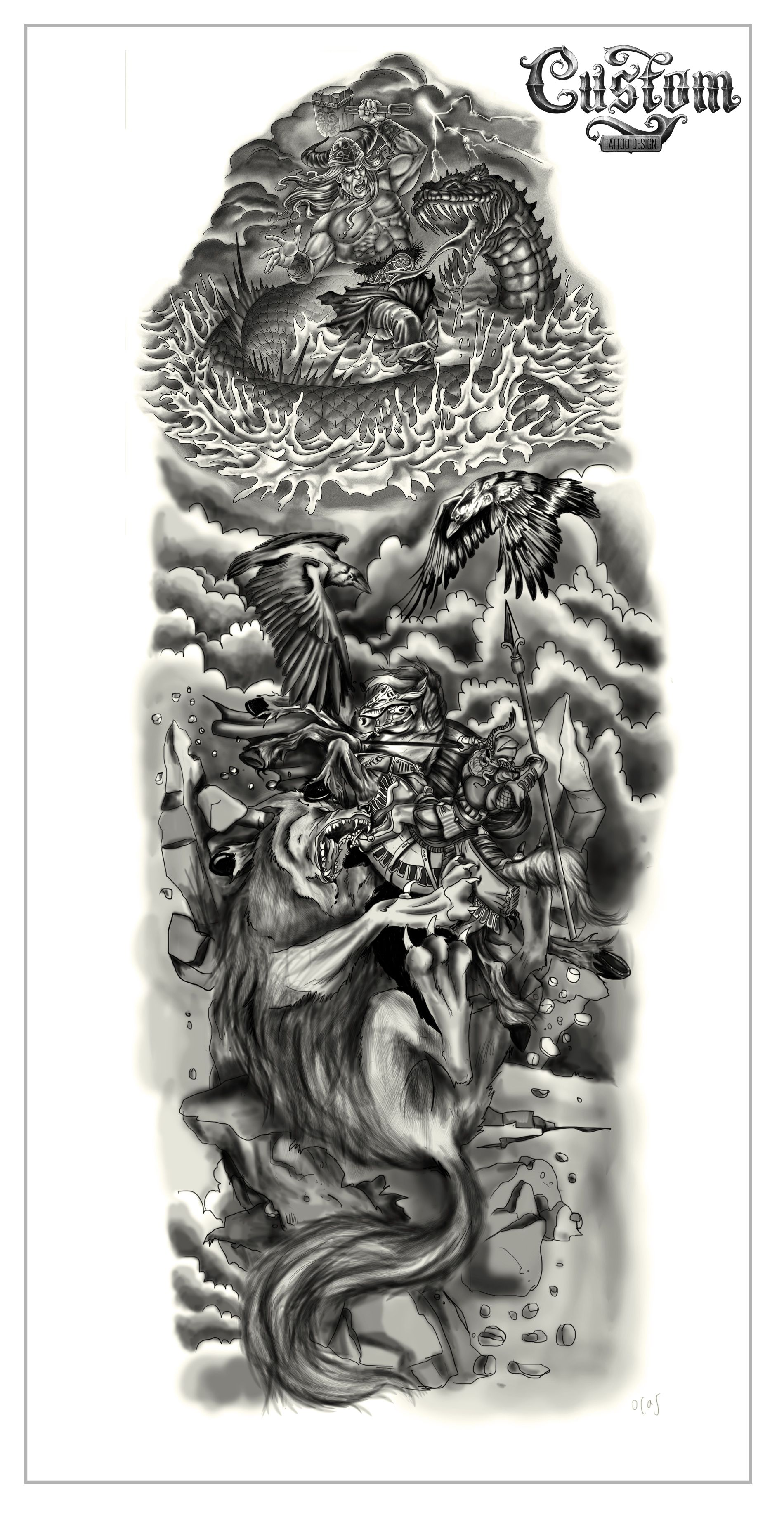 Tattoo Sleeve Drawings Designs: Tattoo Designs Gallery Of Artwork And Videos