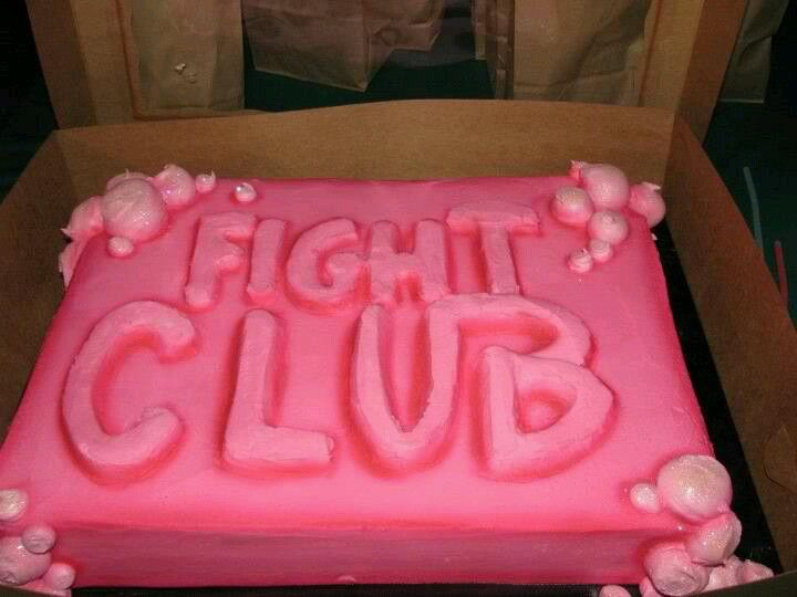 Awesome fight club cake for my husbands birthday smarty
