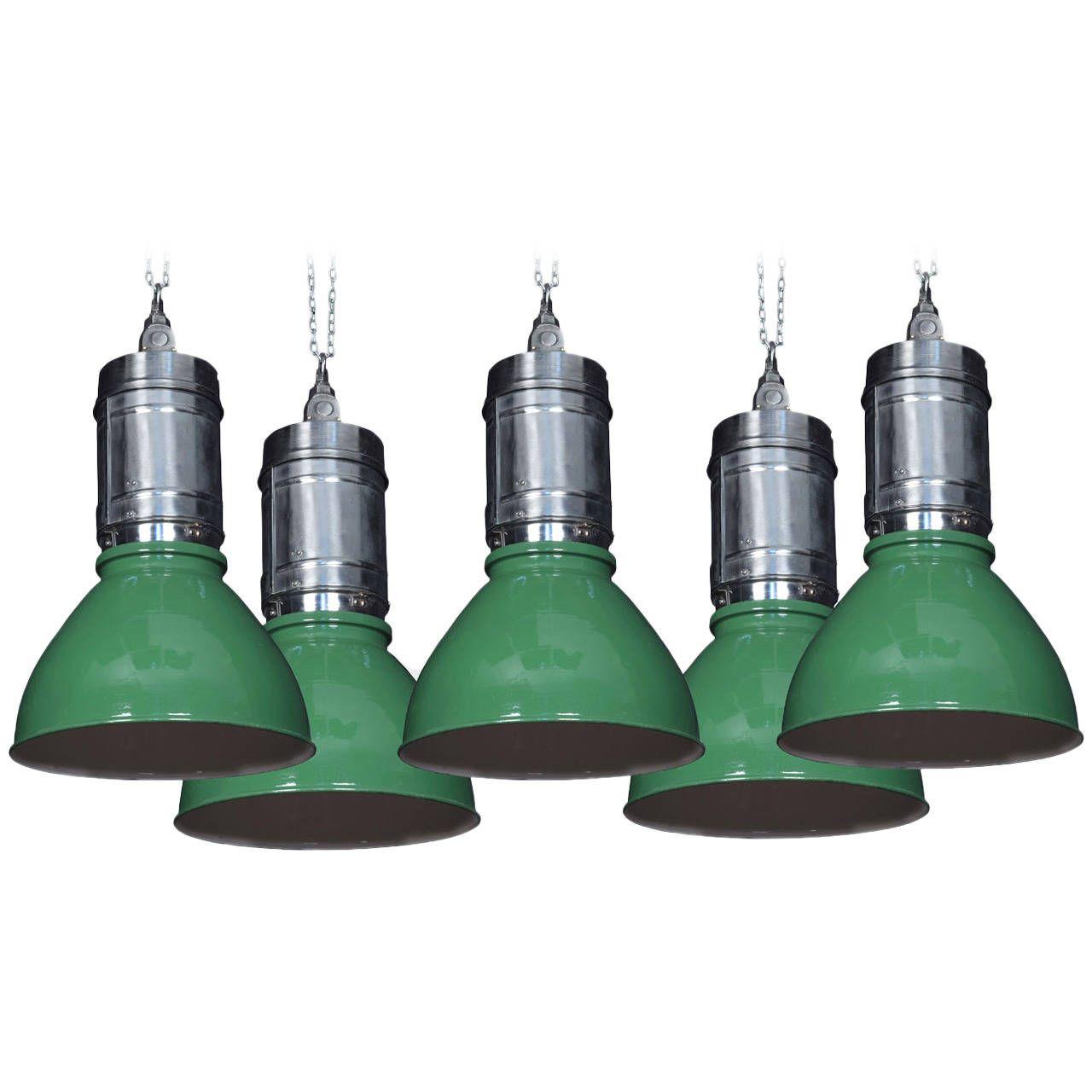 Set of five vintage industrial lights modern chandelier vintage