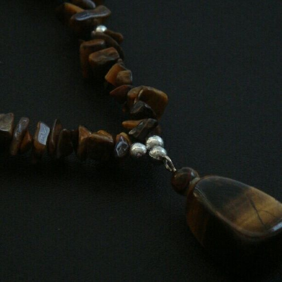 Price reduction -- Hand made necklace Tiger eye stone necklace Jewelry Necklaces