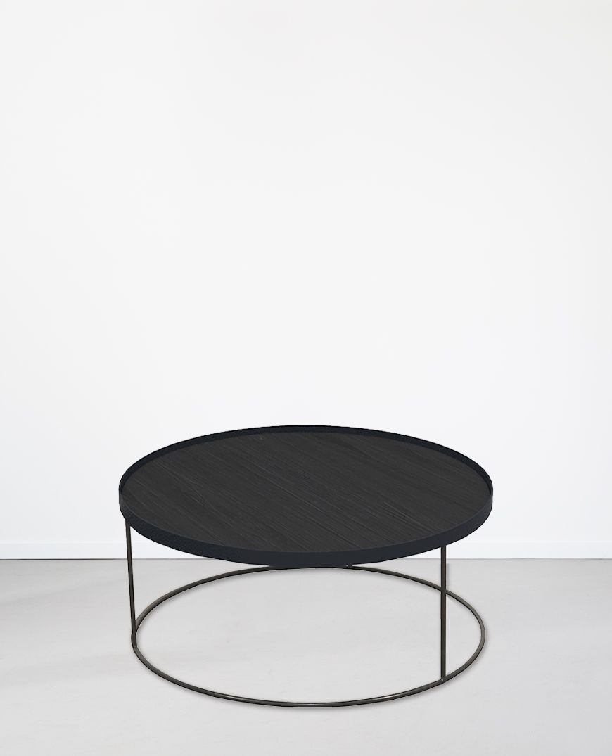 Notre Monde Round Tray Coffee Table Extra Large Papaya In 2020 Coffee Table Round Tray Table [ 1075 x 870 Pixel ]