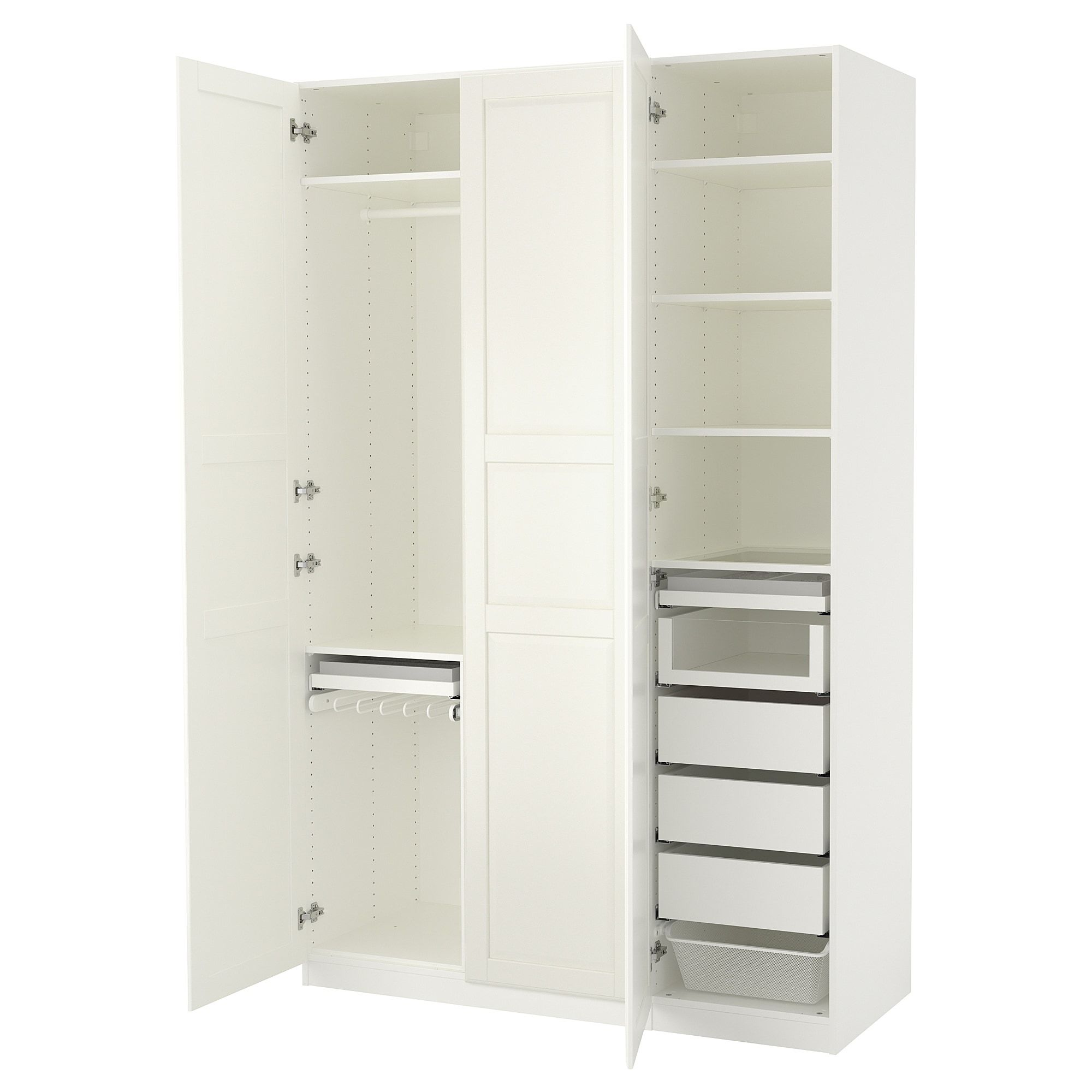 Schlafzimmerschrank Ikea Weiß Pax Wardrobe White Tyssedal White In 2019 Shopping Furniture