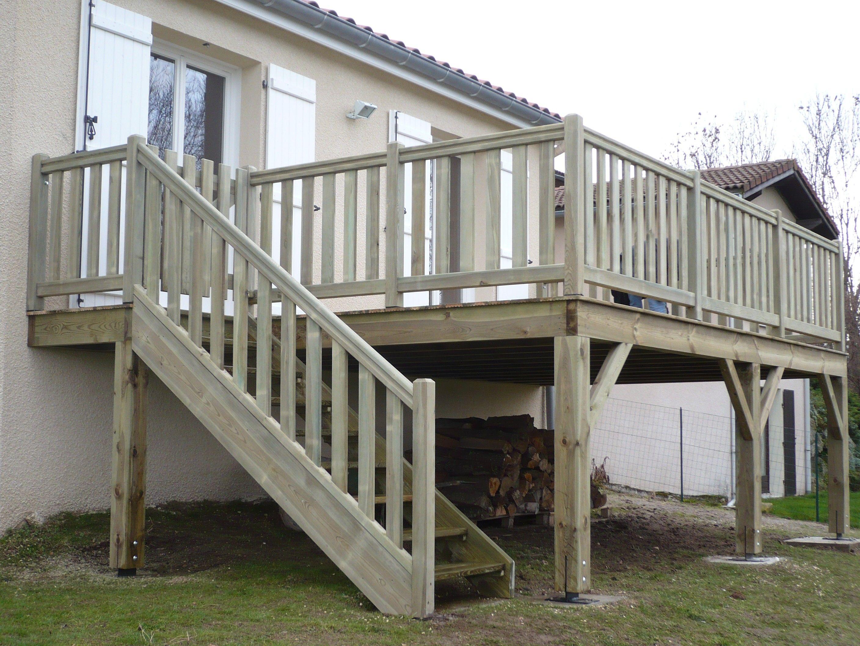 Find Inspiration About Realiser Une Terrasse Sur Pilotis Terrasse En  Hauteur Beton 13 Construire Terrasse Bois