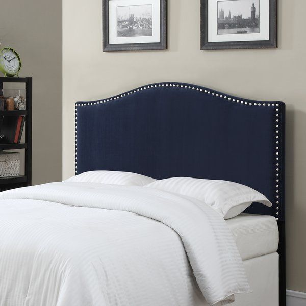 Wred In Velvet Upholstery This Nailhead Studded Headboard Brings A Sophisticated Air To Your