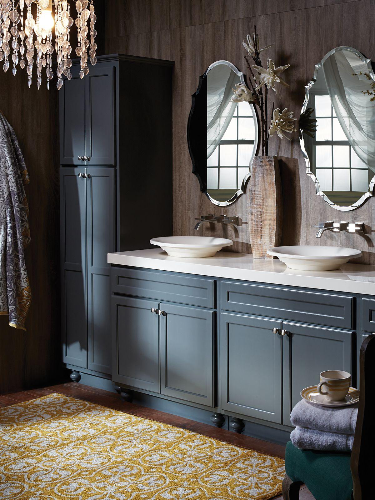 Northbrook Birch Graphite Small Bathroom Cabinets Kitchen Cabinets In Bathroom Bertch Cabinets