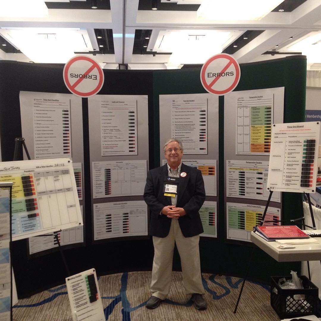 Doug Hall with checklist boards at the 2016 OR Excellence