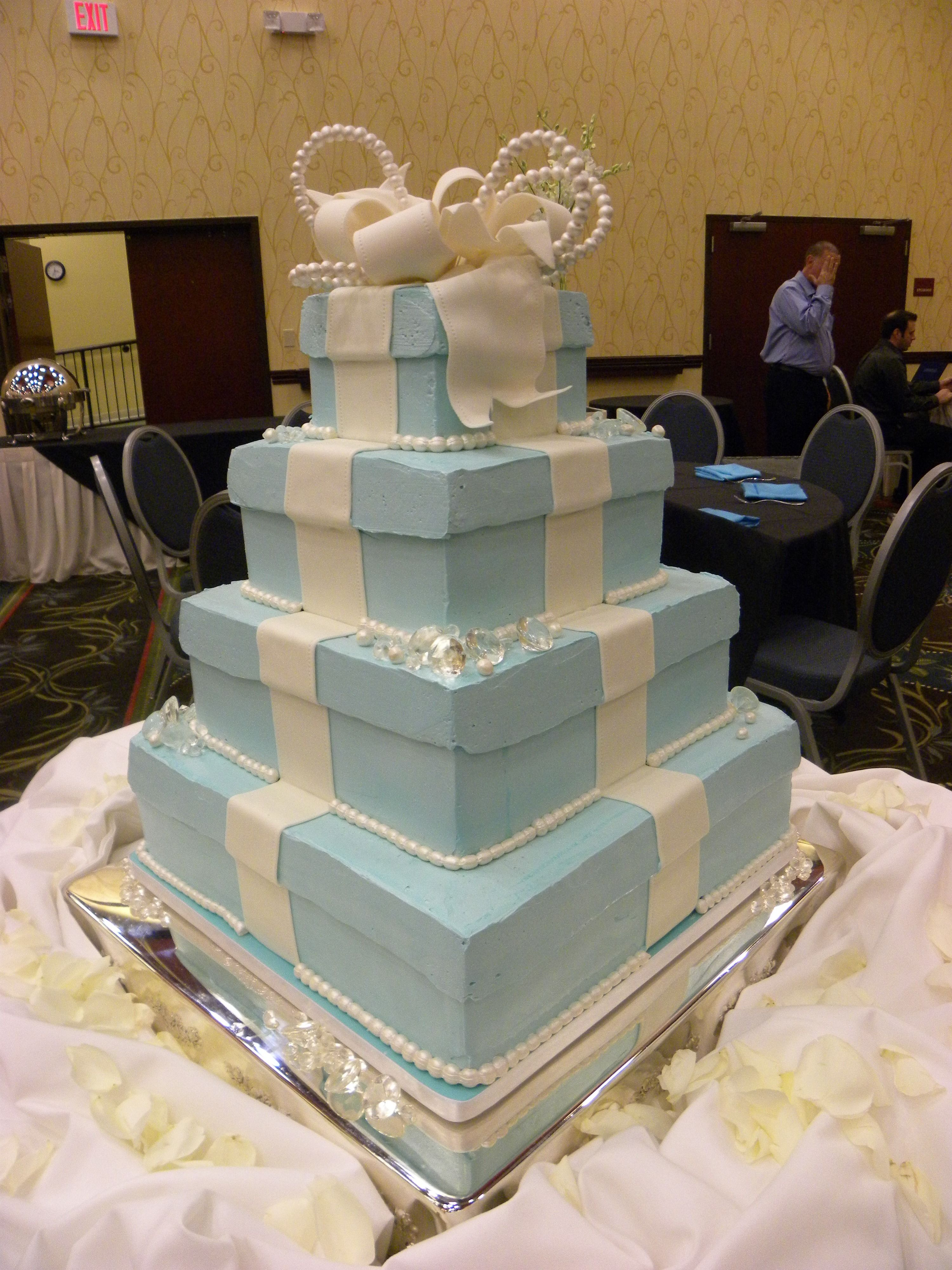 Tiffany Themed Cake Wedding Cake In Asheville At The Double Tree