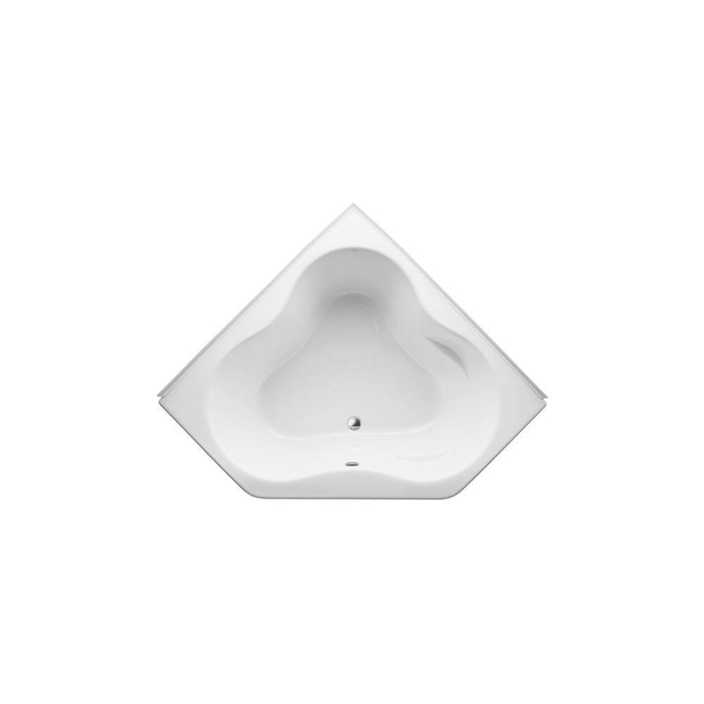 KOHLER ProFlex 4.5 ft. Front Drain Corner Bathtub in White | Corner ...