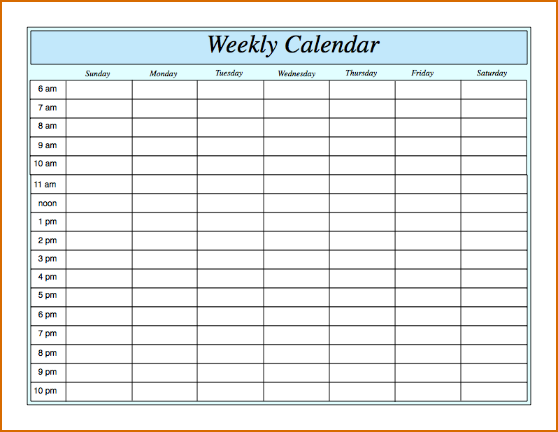 Weekly Calendar Hour Meloin Tandemco Weekly Calendar By Hour