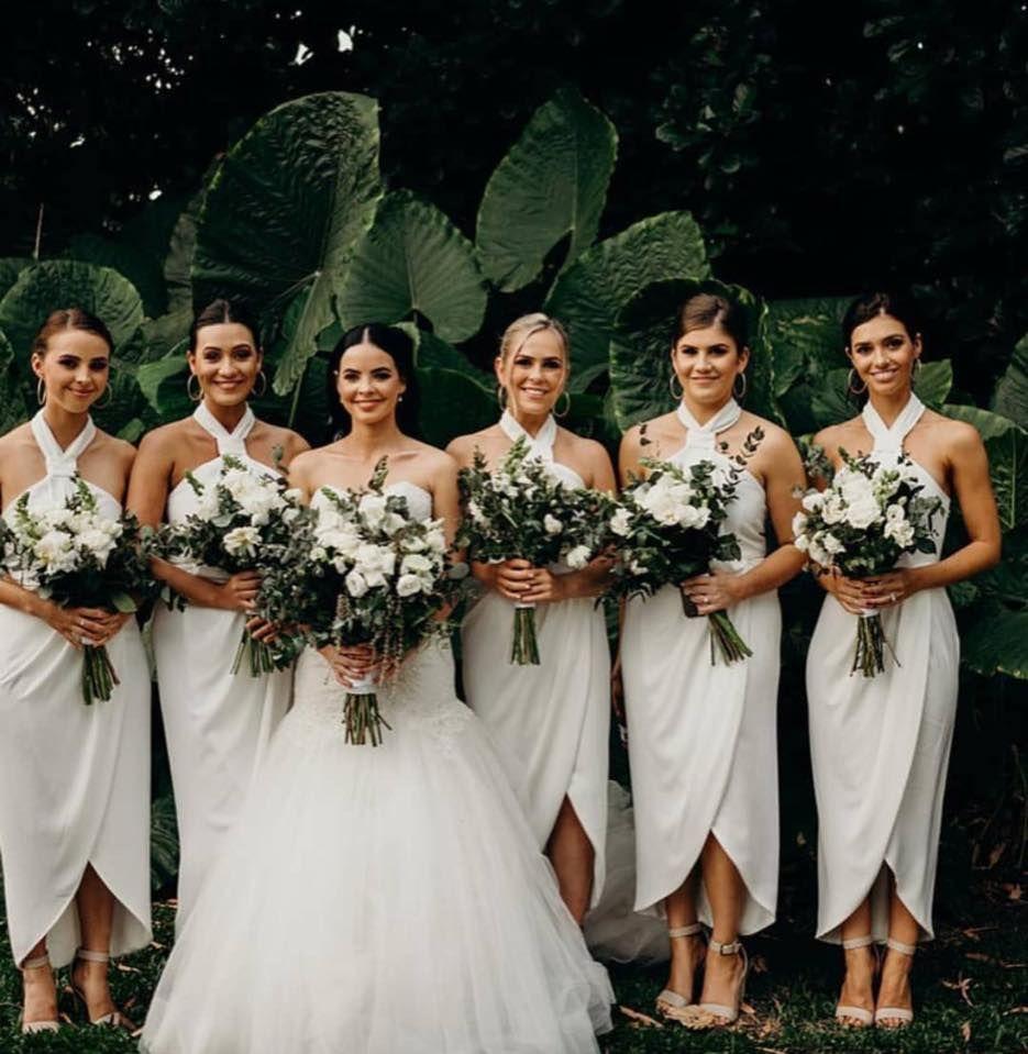 Shona Joy Knot Draped Dress Ivory in 2020 Wedding