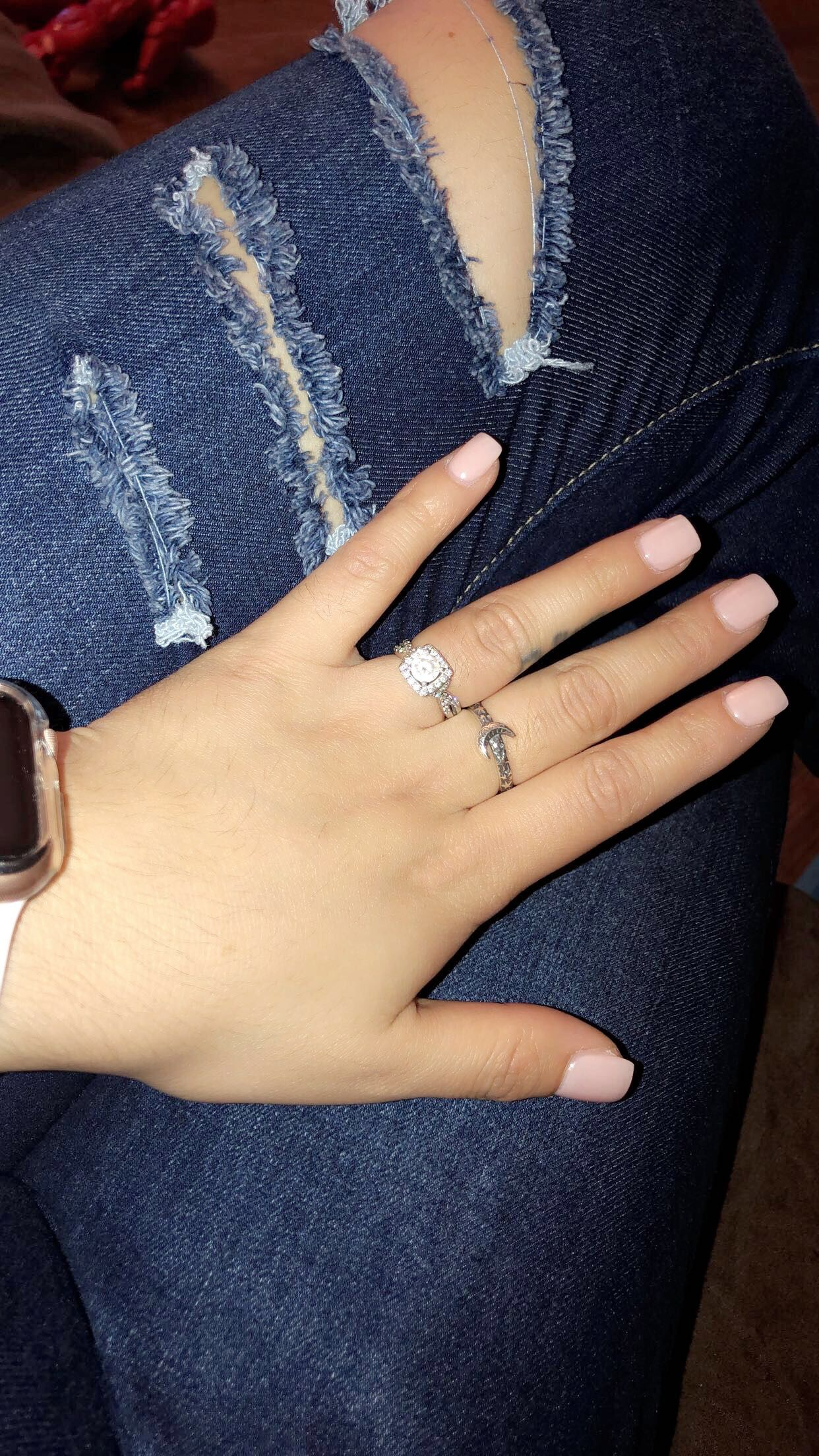 Short Square Nails Ripped Jeans Opi Bubble Bath Short Acrylic Nails Designs Short Square Nails Short Square Acrylic Nails