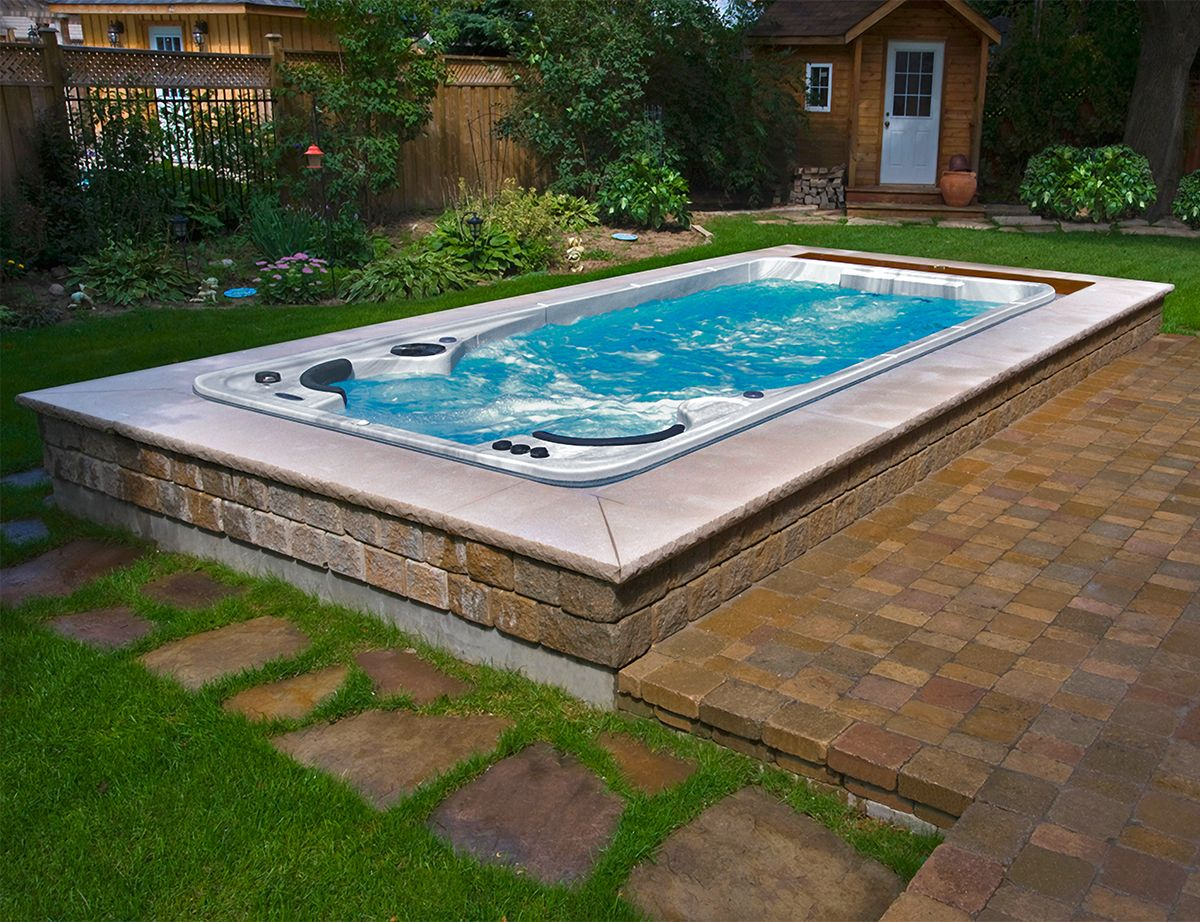 Swim Spas Luxury Swimming Pools Swim Spa Swim Spa Deck